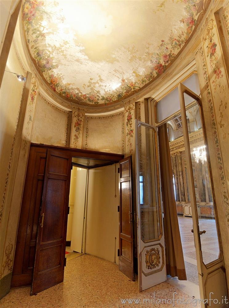 Milan (Italy) - Oval anteroom in Serbelloni Palace