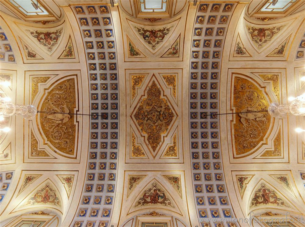 Milan (Italy) - Ceiling of the honor Hall of Serbelloni Palace