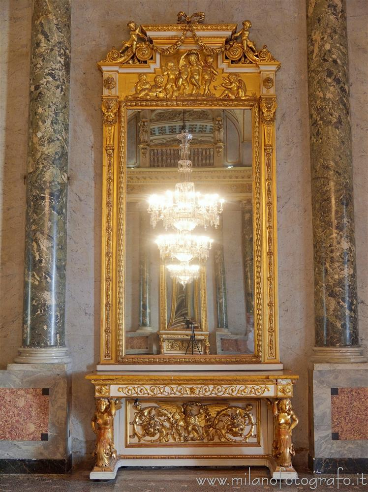 Milan (Italy) - Large mirror in the Napoleonic Hall of Serbelloni Palace