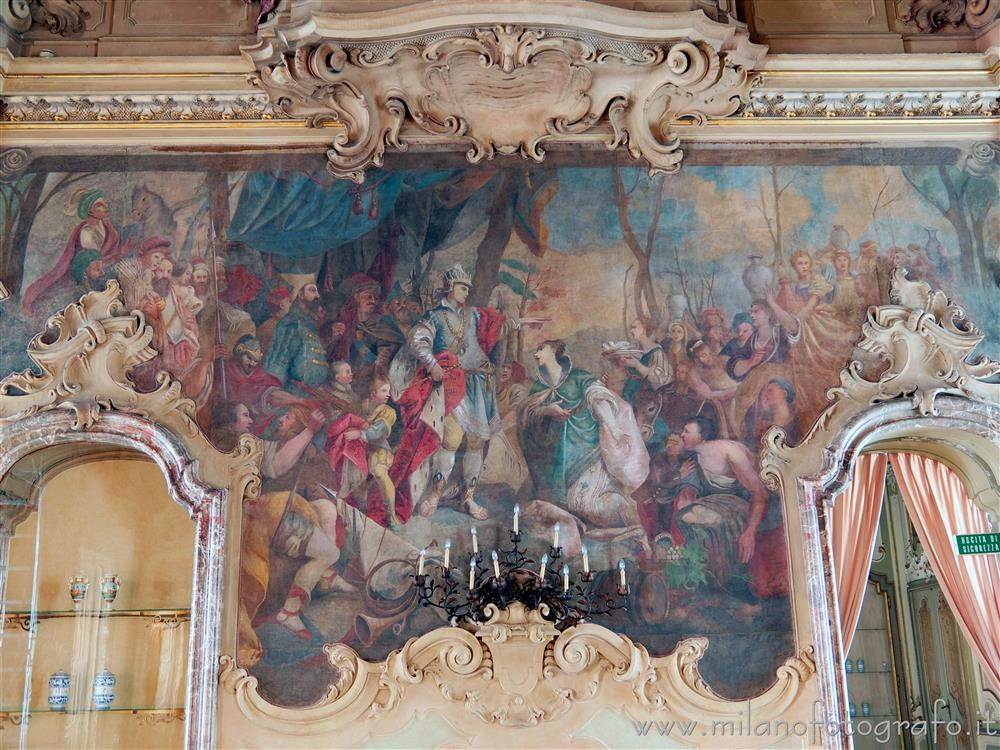 Milan (Italy) - Telero in Visconti Palace depicting the Encounter between Esther and King Ahasuerus