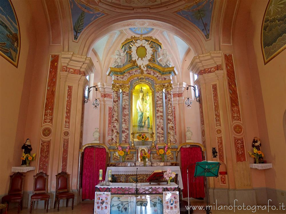 Anzasco fraction of Piverone (Turin Italy) - Presbytery of the Church of the Madonna of Anzasco