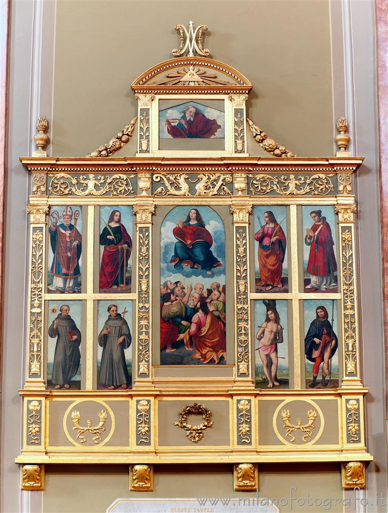 Oggiono (Lecco, Italy) - Polyptych of Marco d'Oggiono in the Church of Sant'Eufemia
