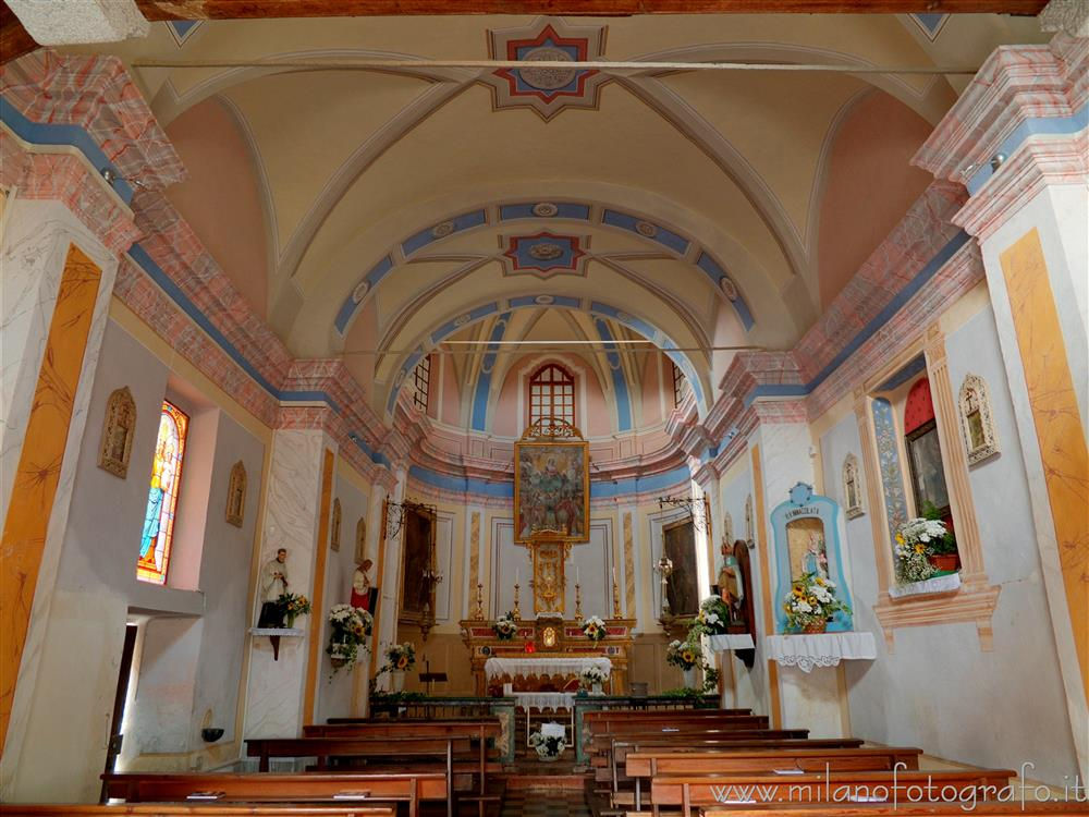 Quittengo fraction of Campiglia Cervo (Biella, Italy) - Interior of the Church of San Rocco