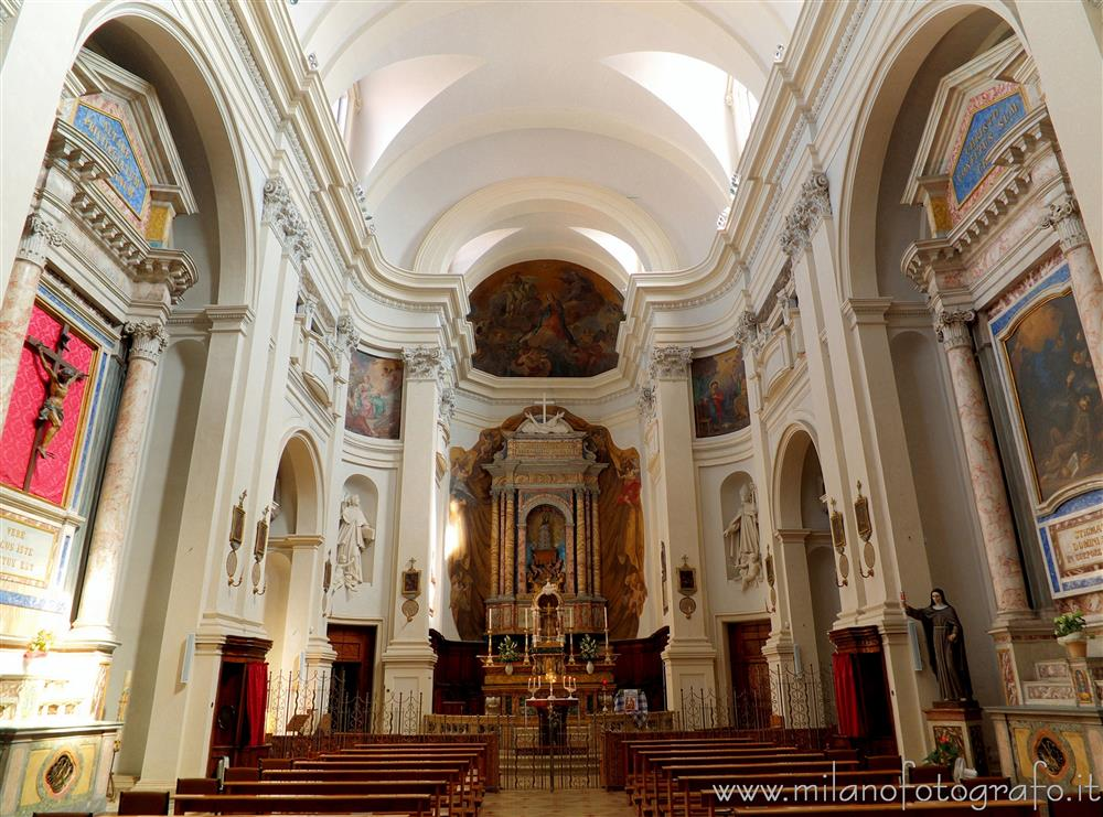 Rimini (Italy) - Interior of the Church of San Bernardino