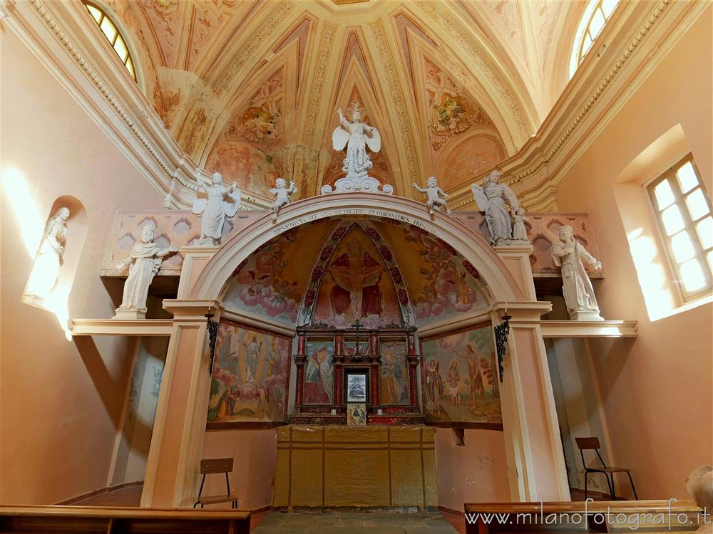 Sagliano Micca (Biella, Italy) - Interior of the Oratory of the Most Holy Trinity