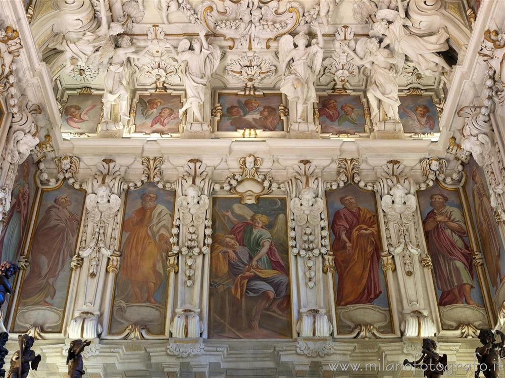 Caravaggio (Bergamo, Italy) - Decorated wall of the sacristy of the Sanctuary of Caravaggio