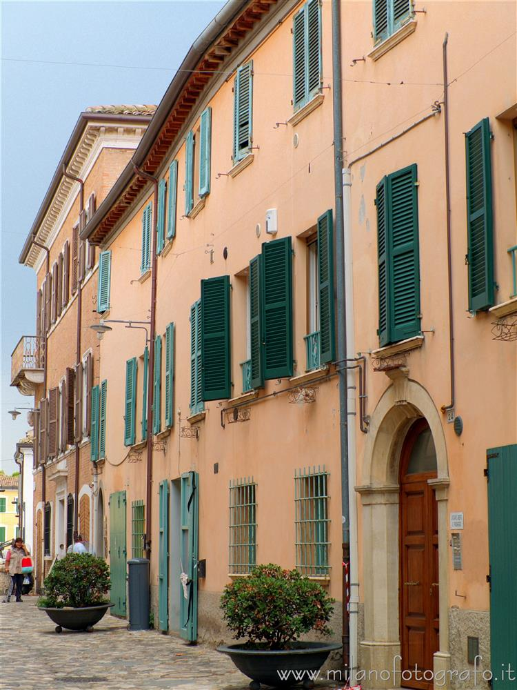 San Giovanni in Marignano (Rimini, Italy) - Old houses of the town