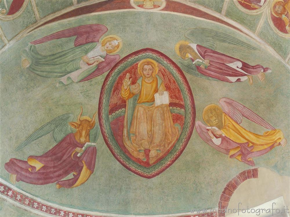 Milan (Italy) - Frescoed vault of the apse of the Church of San Siro alla Vepra