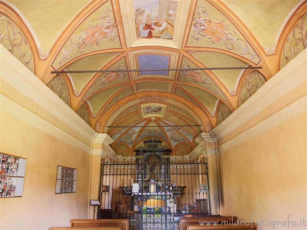 Trivero (Biella, Italy) - Interior of the Old Church of the Sanctuary of the Moorland
