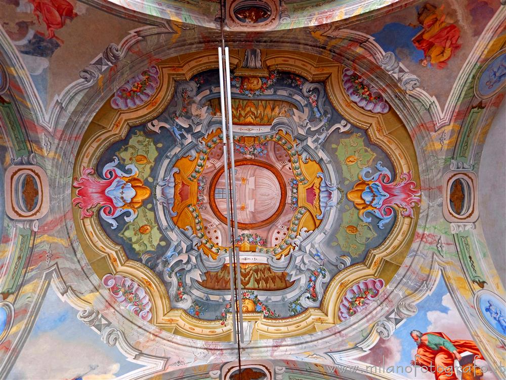 Graglia (Biella, Italy) - Ceiling of the chapel of the Exercises of the Sanctuary of Graglia