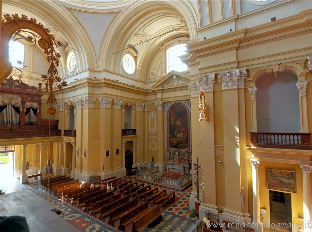 Graglia (Biella, Italy) - Interior of the church of the sanctuary seen from an internal balcony