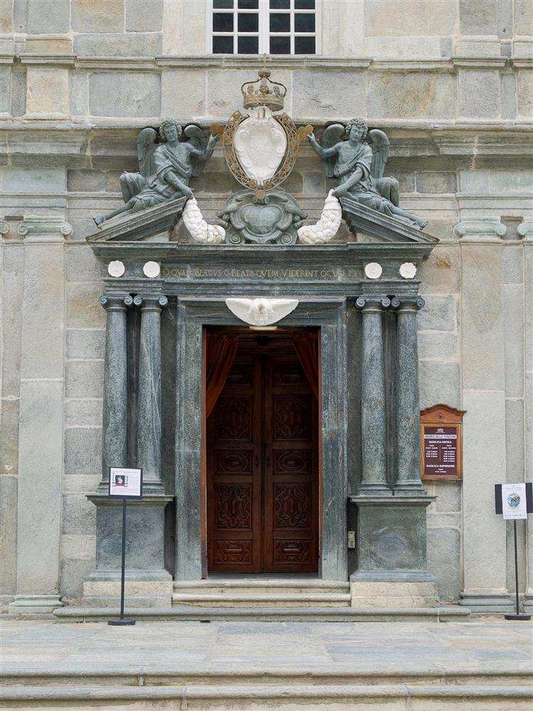 Sanctuary of Oropa (Biella, Italy) - Entrance door of the Ancient Basilica