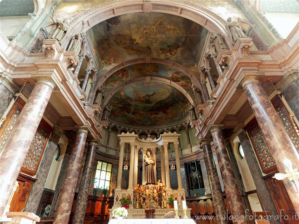 Milan (Italy) - Presbytery and apse of the Sanctuary of Sant'Antonio da Padova