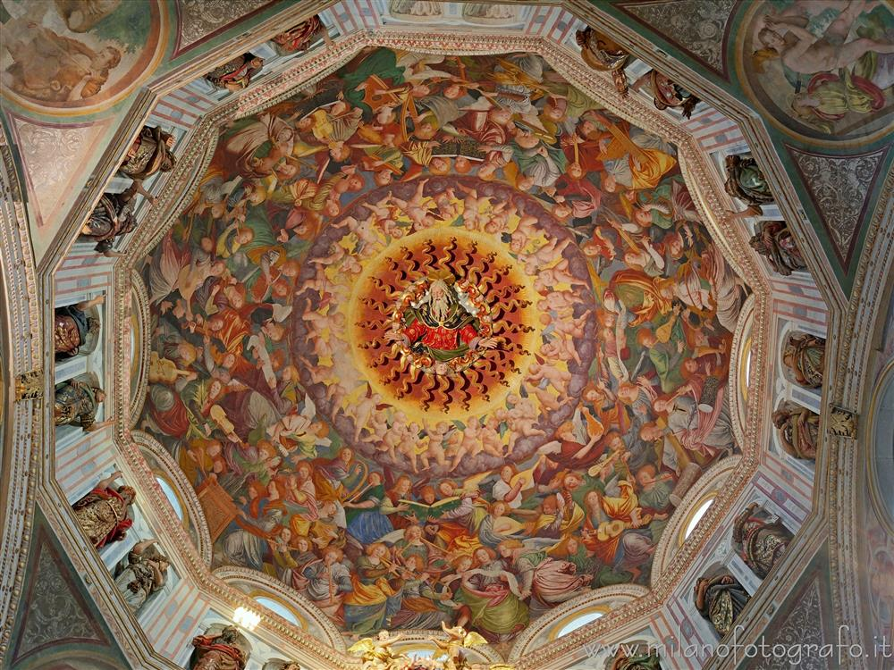 Saronno (Varese, Italy) - Interior of the dome of Sanctuary of the Blessed Virgin of the Miracles