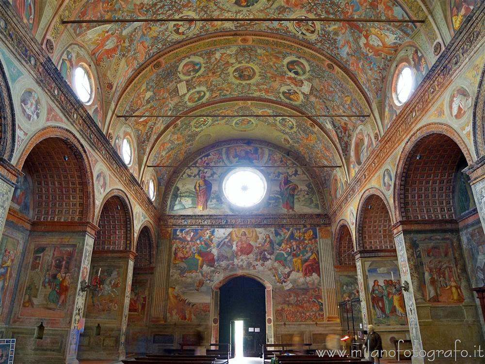 Soncino (Cremona, Italy) - Nave of the Church of Santa Maria delle Grazie
