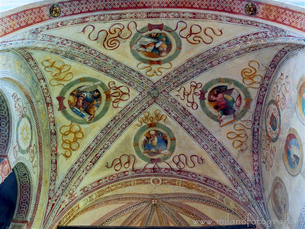 Soncino (Cremona, Italy) - Ceiling of the presbytery of the Church of Santa Maria delle Grazie