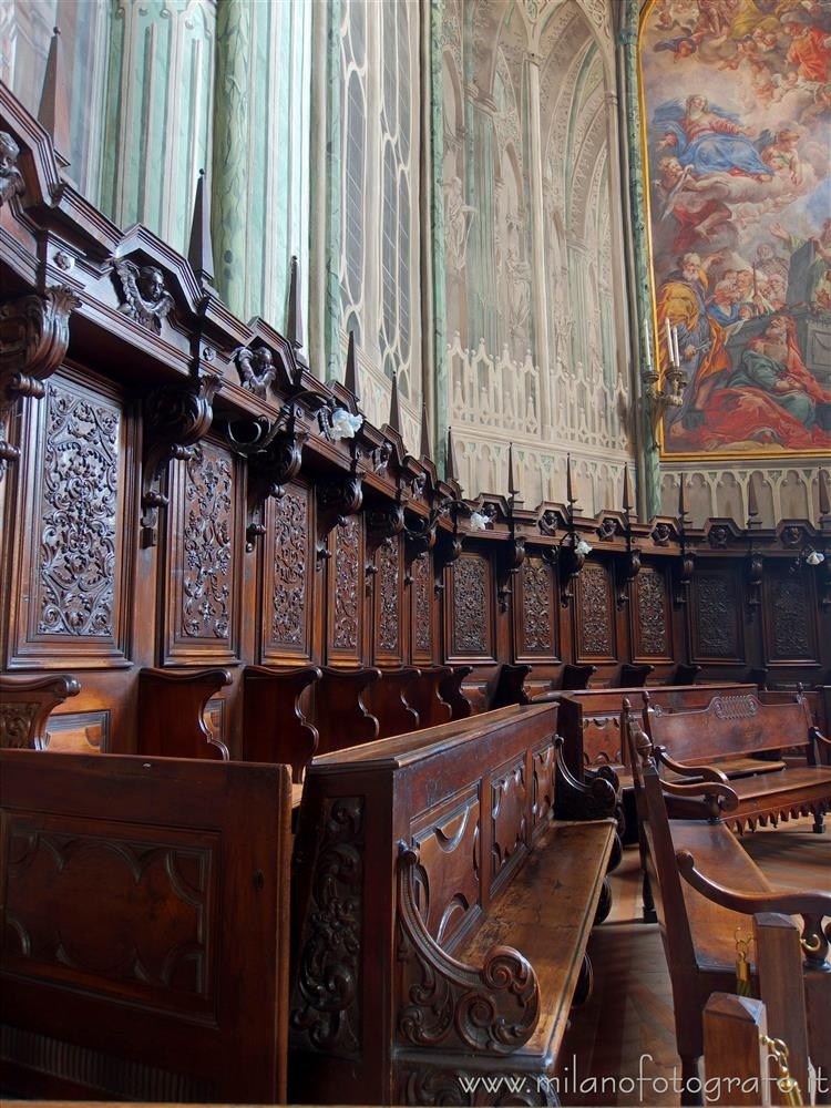 Biella (Italy) - Seats of the choir of the Cathedral of Biella