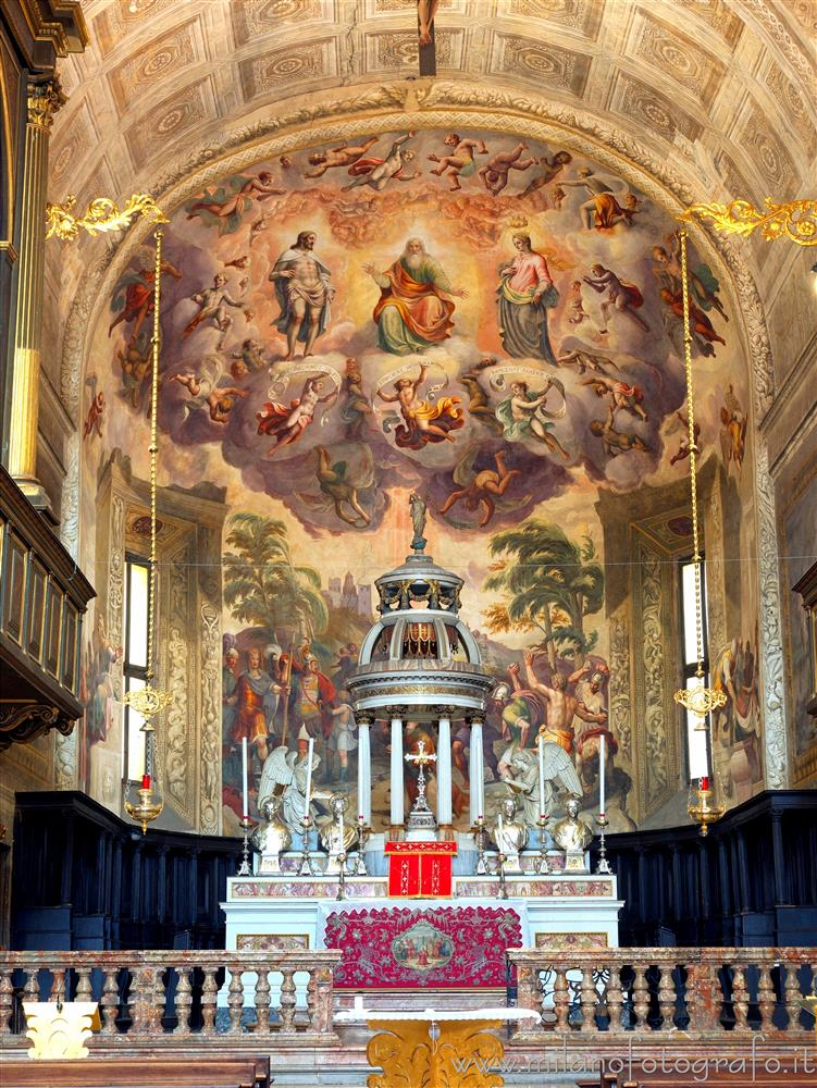 Vimercate (Monza e Brianza, Italy) - Central apse of the the St. Stephen's Collegiate Church