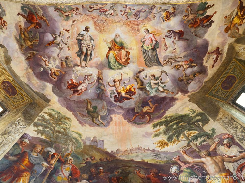 Vimercate (Monza e Brianza, Italy) - Heavenly vision of Saint Stephen