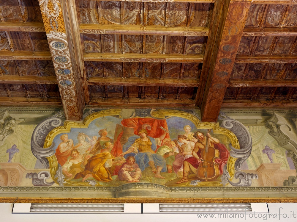Vimercate (Monza e Brianza, Italy) - Minerva goddess of peace in one of the rooms of Palace Trotti