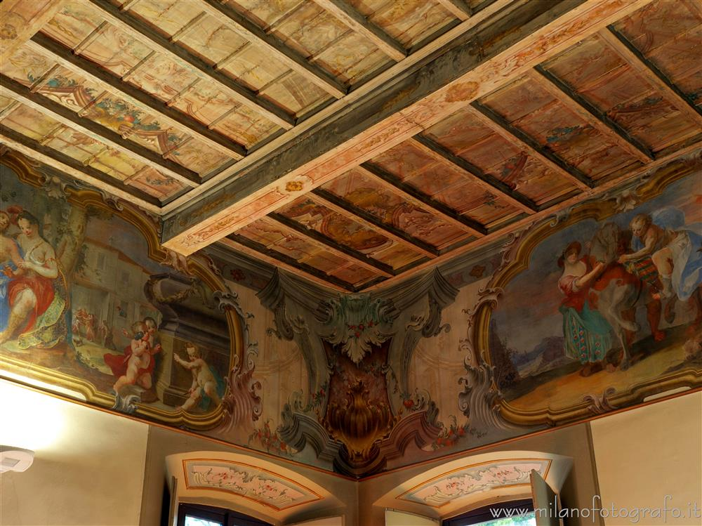 Vimercate (Monza e Brianza, Italy) - Frescoes in the hall of Angelica and Medoro of Palazzo Trotti