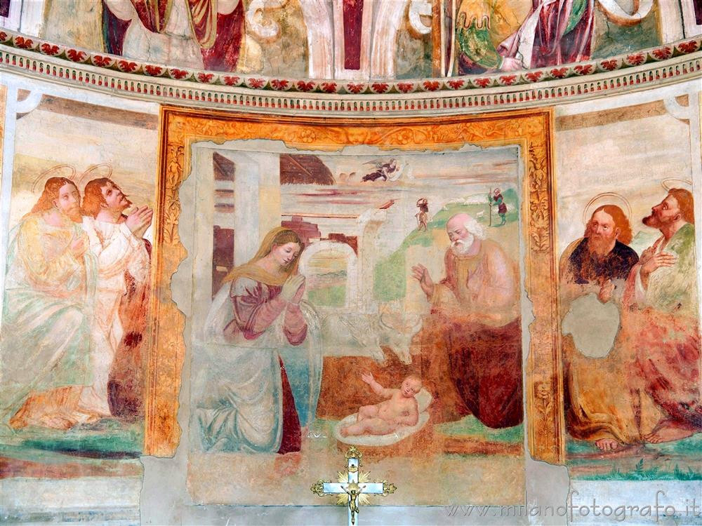 Vimodrone (Milan, Italy) - Fresco of the Nativity in the Church of Santa Maria Nova al Pilastrello