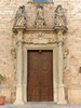Felline fraction of Alliste (Lecce, Italy): Door of the Church of Our Lady of Sorrows