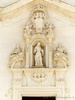 Uggiano La Chiesa (Lecce, Italy): Baroque decorations above the entrance the Church of Santa Maria Maddalena