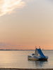 Cattolica (Rimini, Italy): End of summer sunset with pedalo