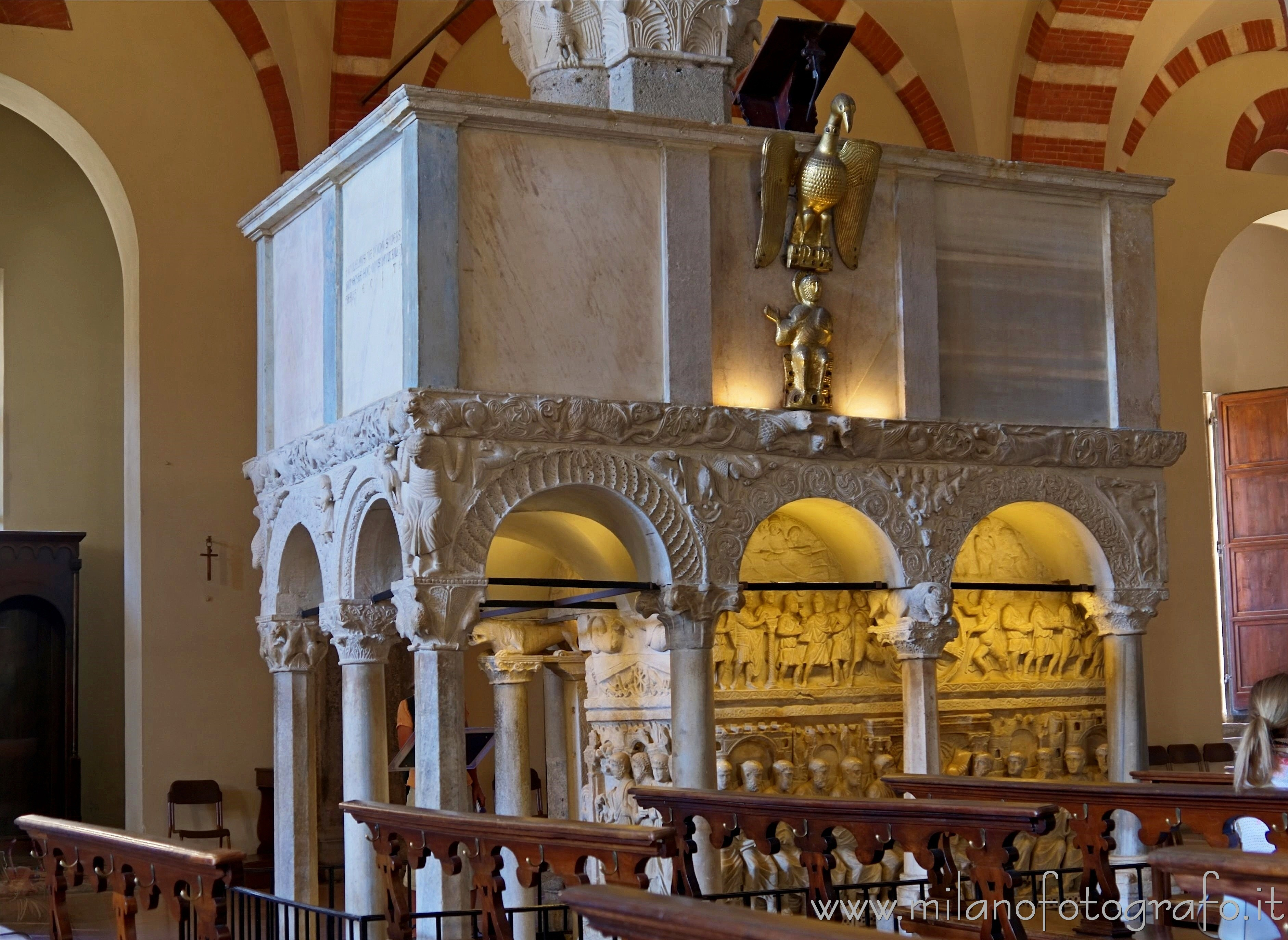 Milan (Italy): The pulpit of the Basilica of Sant'Ambrogio - Milan (Italy)