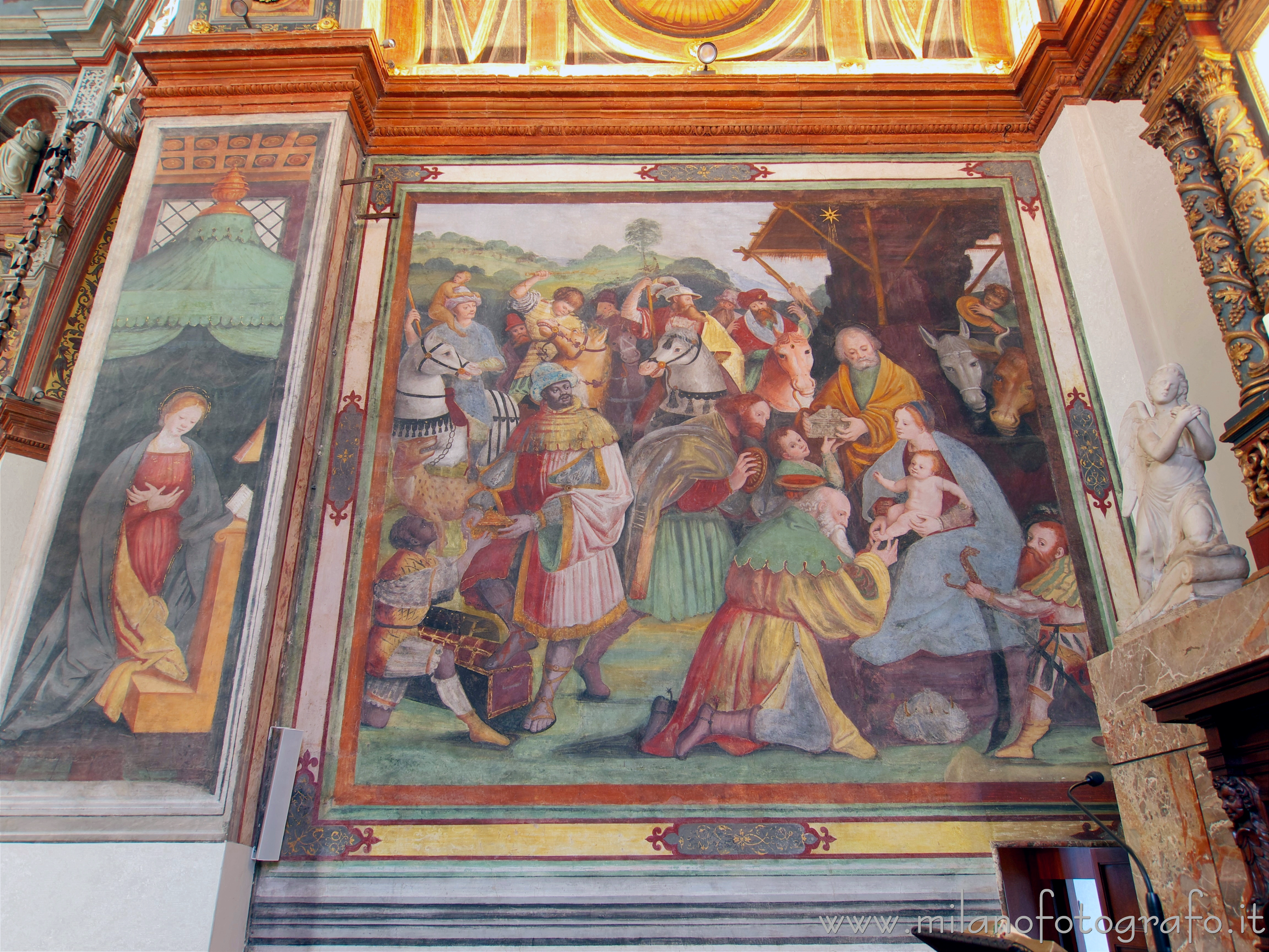 Busto Arsizio (Varese, Italy): Adoration of the Magi in the Sanctuary of Santa Maria di Piazza - Busto Arsizio (Varese, Italy)