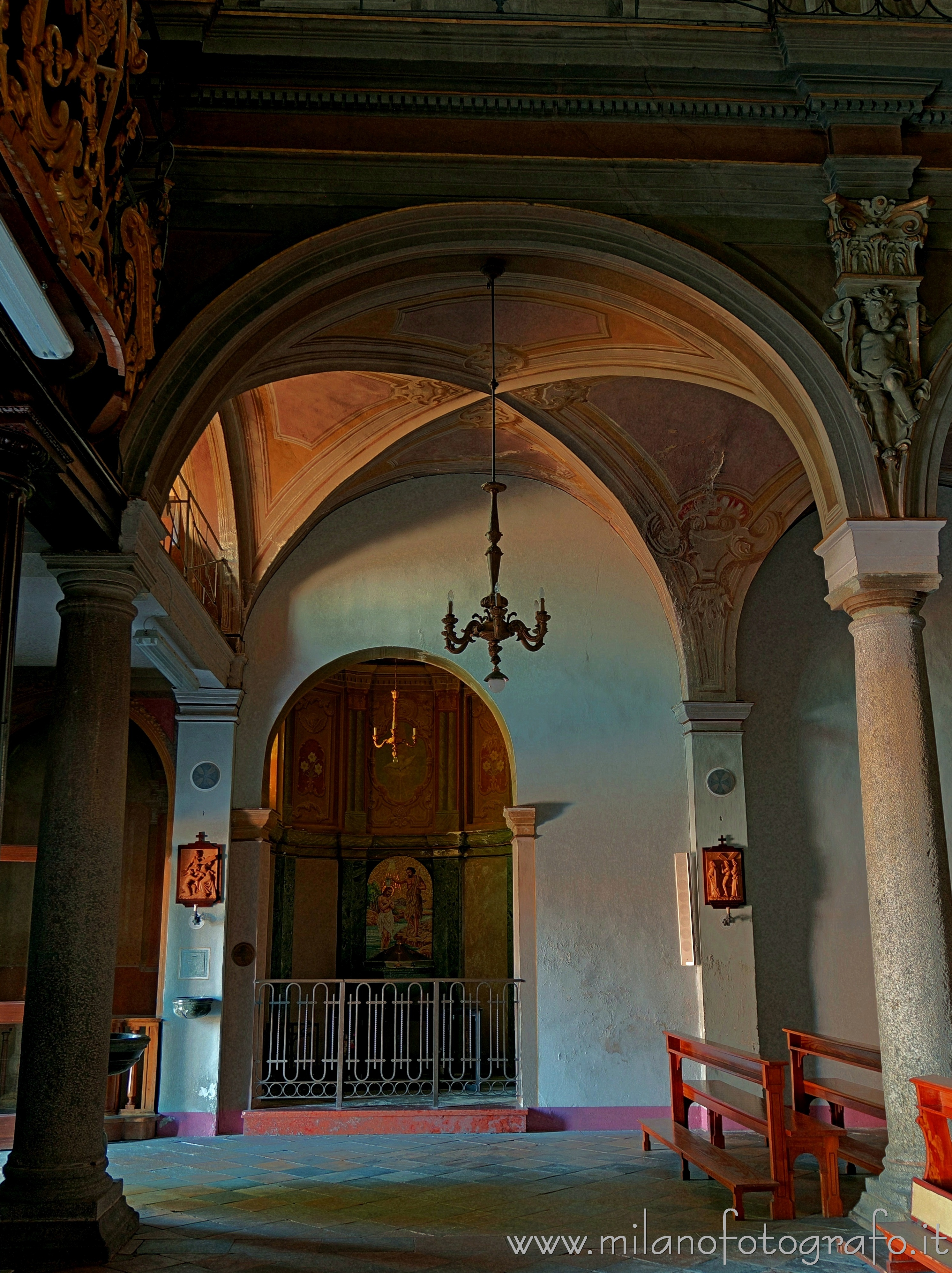 Candelo (Biella, Italy): Baptistery and first spans of the Church of San Pietro - Candelo (Biella, Italy)