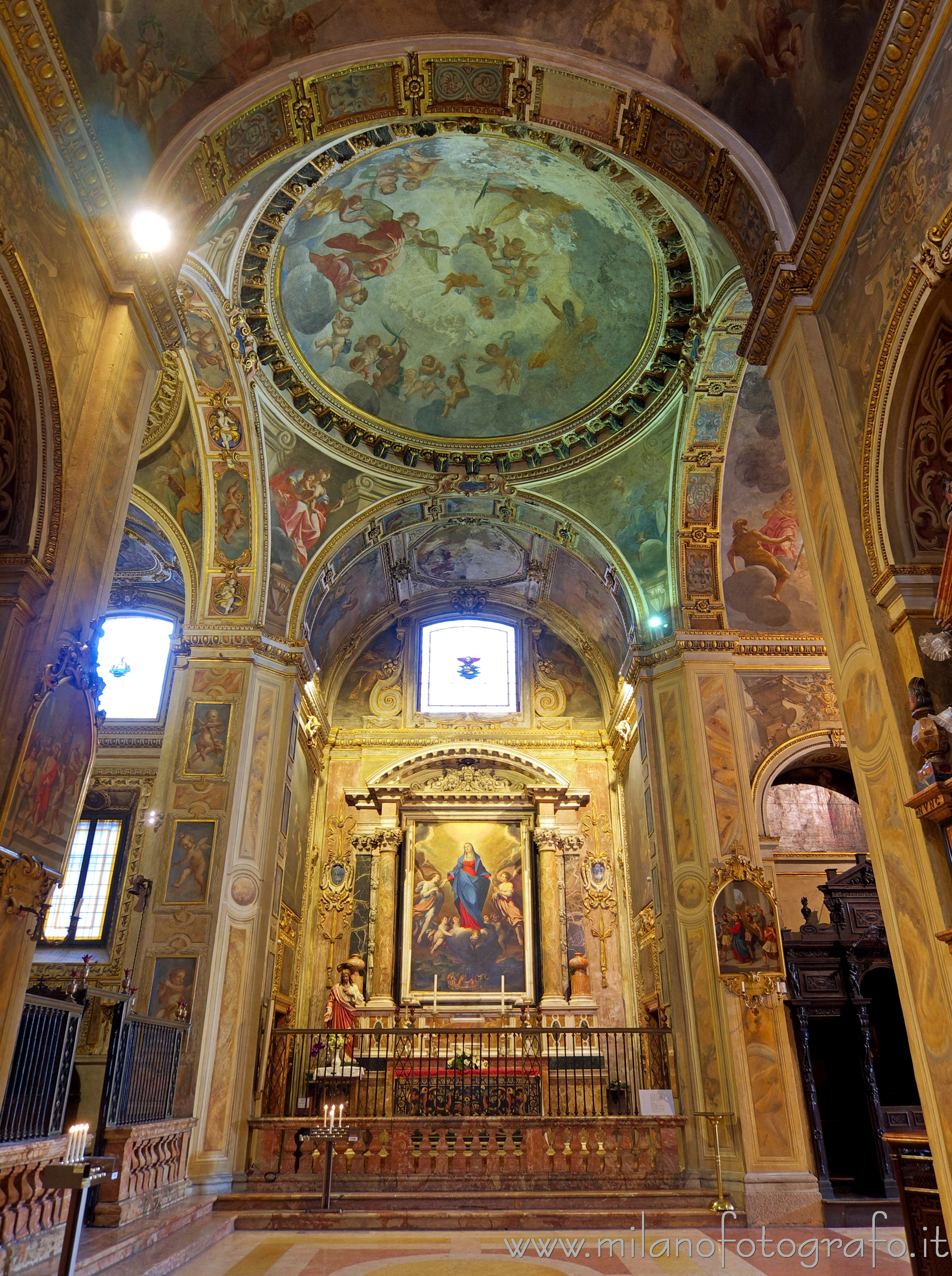 Milan (Italy): Chapel of the Assumption of the Virgin in the Church of Sant'Alessandro - Milan (Italy)