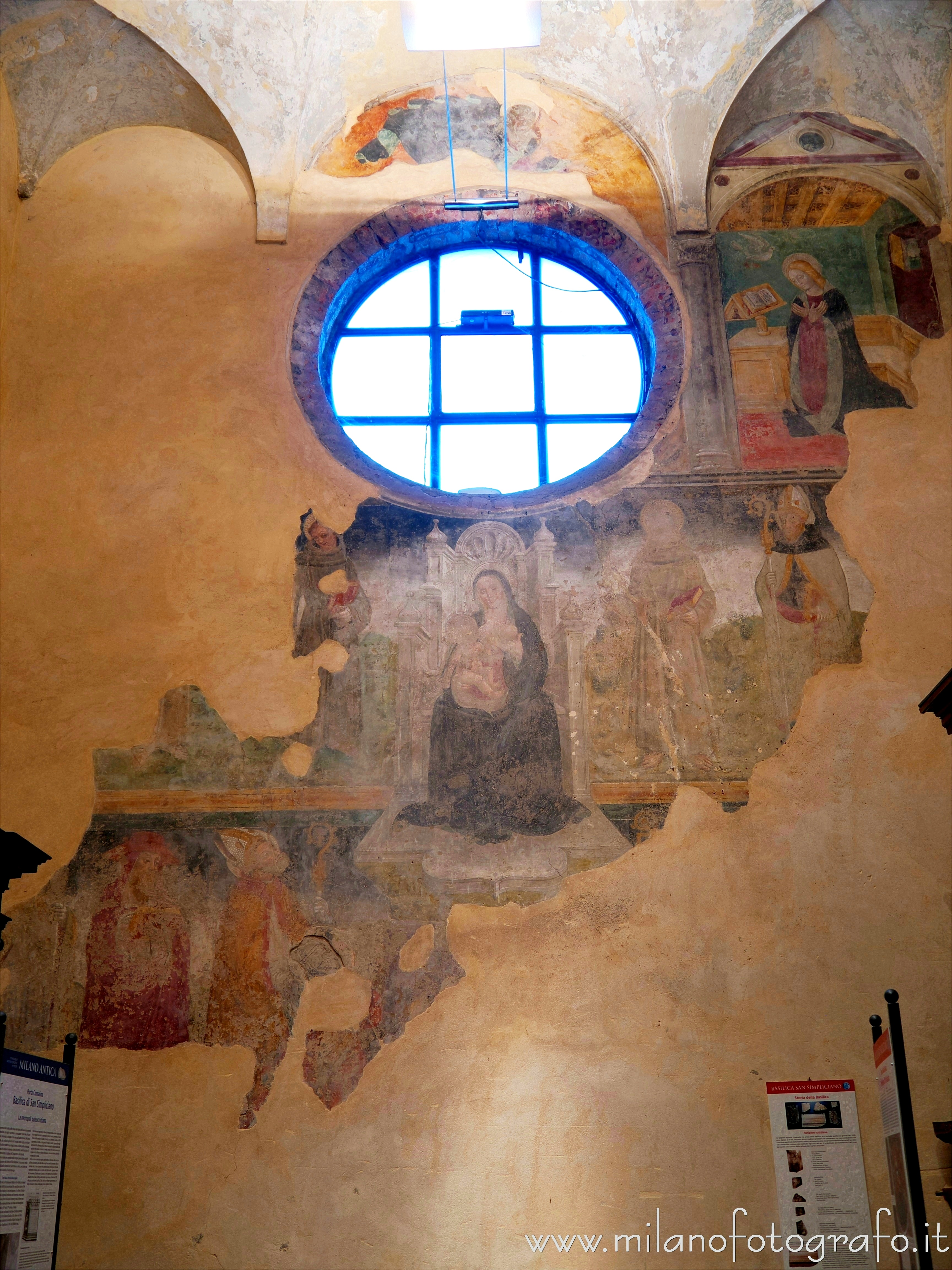 Milan (Italy): Late medieval frescoes in the Basilica of San Simpliciano - Milan (Italy)