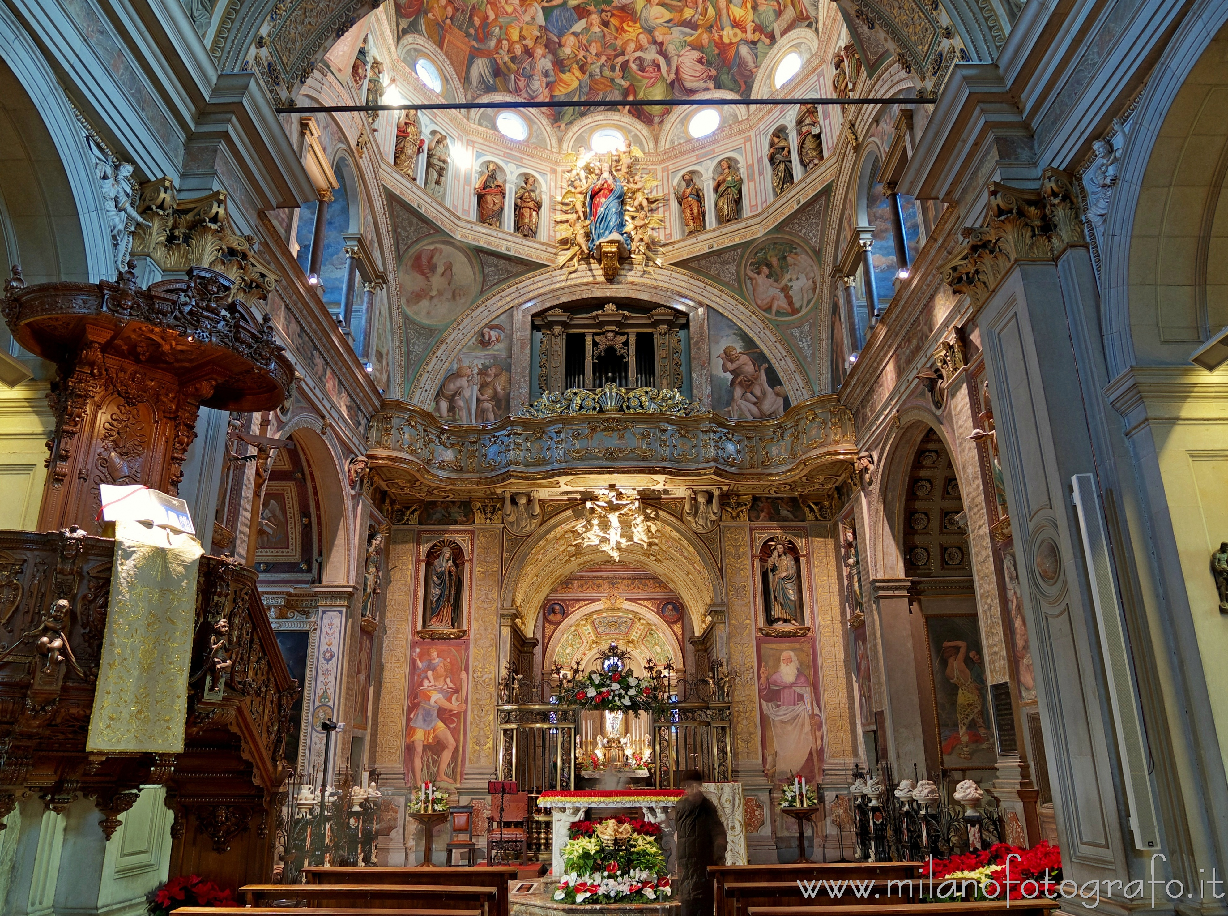 Saronno (Varese, Italy): Central body of the Sanctuary of the Blessed Virgin of the Miracles - Saronno (Varese, Italy)