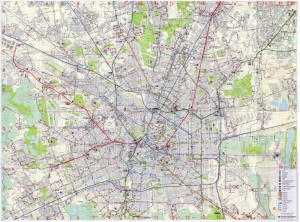 Complete map of Milan and its public trasport system lines