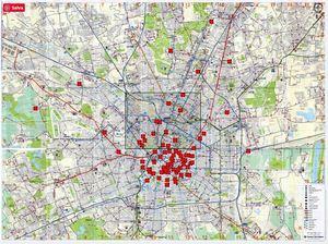 Cartina Milano Con Metro.Info Utili Relative A Milano Trasporti Pubblici