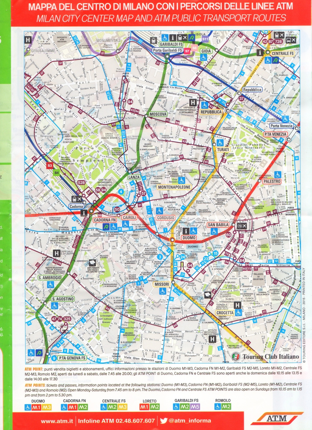 Useful links and info regarding Milan, Italy Public Transport Systems