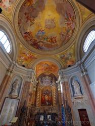 Places  of historical value  of artistic value around Milan (Italy): Civic temple of Sant'Anna - Church of the Blessed Virgin of Graces
