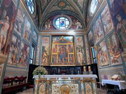 Places  of historical value  of artistic value around Milan (Italy): Basilica of San Magno