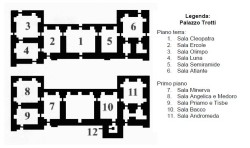 Planimetry of Palace Trotti in Vimercate